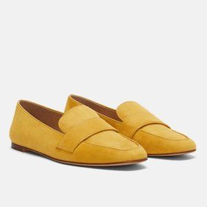 Zara Yellow Loafers sz 6.5